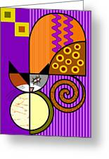 The Cat's Milk Greeting Card by Kenneth North