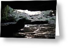 The Cave Is Not Dry  Greeting Card