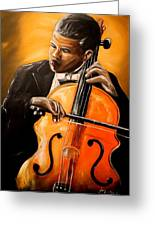 The Cello Player Greeting Card