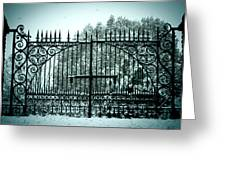 The Cemetery Gates Greeting Card