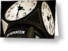 The Central Terminal Clock Greeting Card