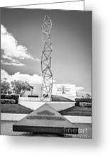 The Challenger Memorial 2 - Bayfront Park - Miami - Black And White Greeting Card by Ian Monk
