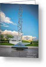 The Challenger Memorial - Bayfront Park - Miami - Hdr Style Greeting Card