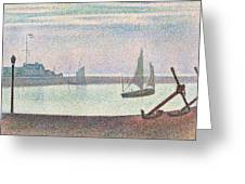 The Channel At Gravelines In The Evening Greeting Card