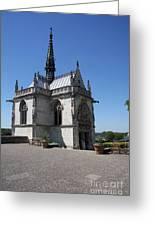 The Chapel Of Saint-hubert Amboise Greeting Card