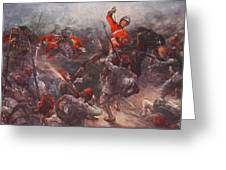 The Charge Of Drury Lowes Cavalry Greeting Card