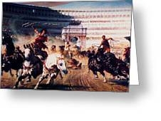 The Chariot Race 1882 Greeting Card