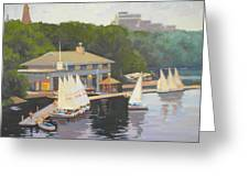 The Charles River Sailing Club Greeting Card