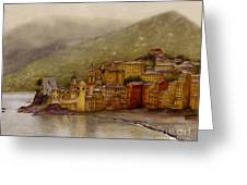 The Charming Town Of Camogli Italy Greeting Card