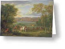 The Chateau Of Saint Germain Oil On Canvas Greeting Card