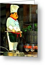 The Chef In The Window Greeting Card
