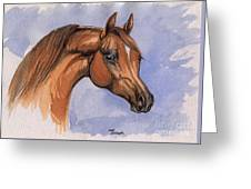 The Chestnut Arabian Horse 1 Greeting Card