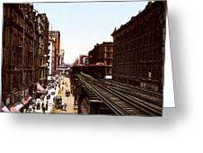 The Chicago El Greeting Card