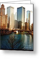 The Chicago River From The Michigan Avenue Bridge Greeting Card