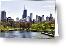 The Chicago Skyline Day-001 Greeting Card