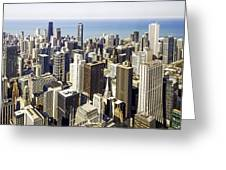 The Chicago Skyline From Sears Tower-001 Greeting Card