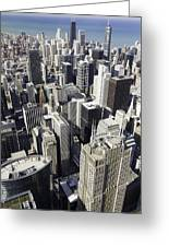 The Chicago Skyline From Sears Tower-004 Greeting Card