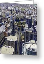 The Chicago Skyline From Sears Tower-005 Greeting Card