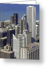 The Chicago Skyline From Sears Tower-006 Greeting Card