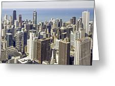 The Chicago Skyline From Sears Tower-009 Greeting Card