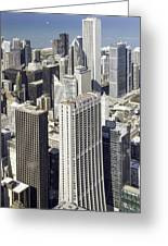 The Chicago Skyline From Sears Tower-010 Greeting Card