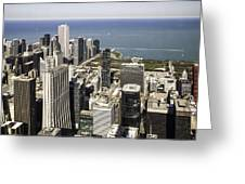 The Chicago Skyline From Sears Tower-011 Greeting Card