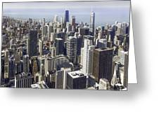 The Chicago Skyline From Sears Tower-013 Greeting Card