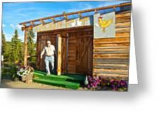 The Chicken Poop In Chicken-alaska Greeting Card
