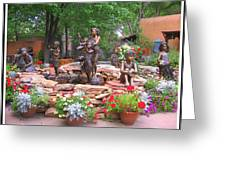 The Children Sculpture Garden - Santa Fe Greeting Card
