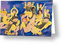 The Chorus Line Greeting Card by Don Larison