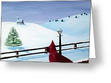 The Christmas Cardinal Greeting Card by Spencer Hudon II