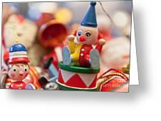 The Christmas Clown  Greeting Card