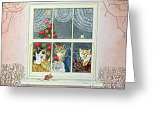 The Christmas Mouse Greeting Card by Ditz