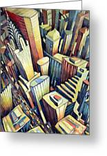 The Chrysler Building Greeting Card by Charlotte Johnson Wahl