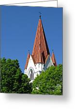 The Chuch Tower- Silute- Lithuania Greeting Card