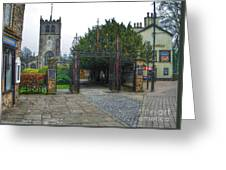 The Church Gate At Kirklands In Kendal Greeting Card
