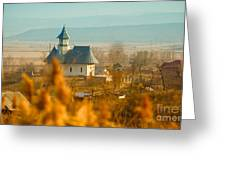 The Church In Stanca Greeting Card