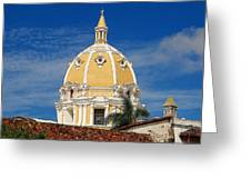 The Church Of San Pedro Claver. Greeting Card
