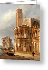 The Church Of Santa Maria E San Donato In Murano Greeting Card