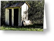 The Church Outhouse Greeting Card