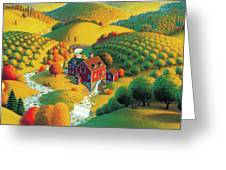 The Cider Mill Greeting Card by Robin Moline