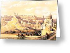 The Citadel Of Cairo Residence Of Mehemit Ali Greeting Card