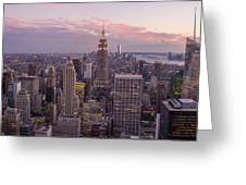 The City In The Evening Greeting Card