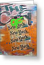 The City Of New York Greeting Card