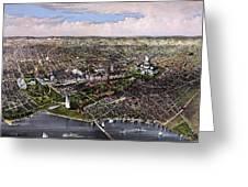 The City Of Washington Birds Eye View Greeting Card