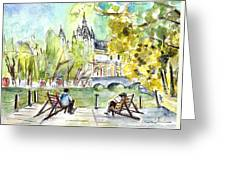 The City Park In Budapest 01 Greeting Card