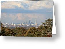 The City Skyline London Uk Greeting Card