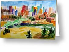 The City Skyline Greeting Card