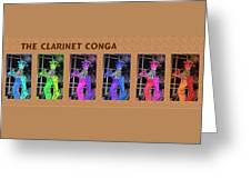 The Clarinet Conga Greeting Card
