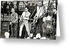 The Clash 1982 Greeting Card by Chuck Spang